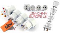 Kit adaptador corriente viaje 4 pcs Euro 220V