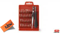 Kit de herramientas llaves + puntas de precisión 32 piezas