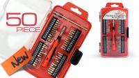 Kit de herramientas llaves + puntas de precisión 50 piezas