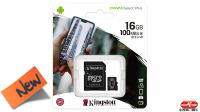Kingston Micro SDHC 16GB Class 10  100mb/s con adaptador