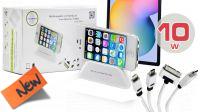 Base de carga hasta 3 dispositivos para smartphone y tablet