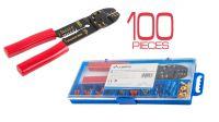 Kit De Conectores Cables 100Pcs + Alicate