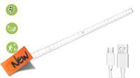 Lámpara con 36 leds y sensor movimento magnética 50cm para armarios rack
