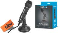 Micrófono NATEC ADDER Negro