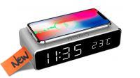 Despertador digital com carregador Wireless 5V 1A