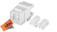 Conector Keystone RJ45 180º UTP Cat.6 con pestaña blanco
