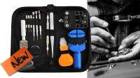 Kit de herramientas con llaves y acessorios para reparación relojes