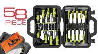 Maletín de herramientas 58 uds. Destornilladores + puntas Torx Phillips de precisión