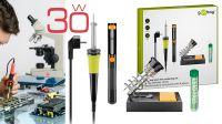 Kit de soldadura soldador 220V/30W con soporte, aspirador de soldaduras y tubo